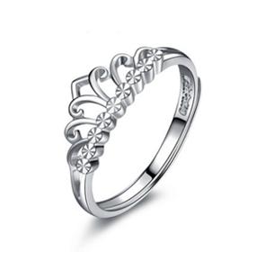 白金皇冠女戒 王冠指环