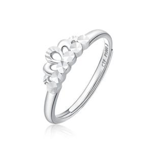 女王皇冠白金戒指