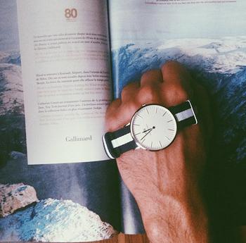 瑞典品牌 时尚手表男石英表