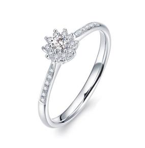 心花怒放边钻款钻石戒指
