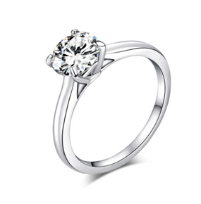 求婚结婚钻石戒指女裸钻定制